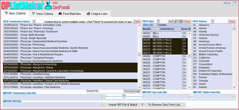 CP ListMaker screen shot